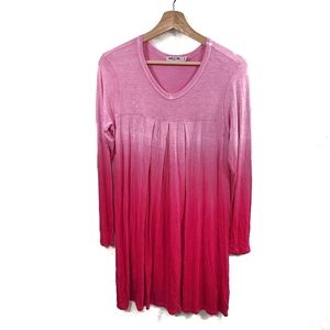 Lock and Love  Pink Ombre Jersey Longsleeve Tunic